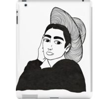 girl with a hat iPad Case/Skin