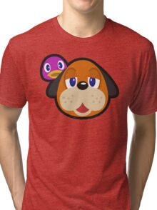 DUCK HUNT DUO ANIMAL CROSSING Tri-blend T-Shirt