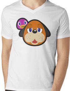 DUCK HUNT DUO ANIMAL CROSSING Mens V-Neck T-Shirt