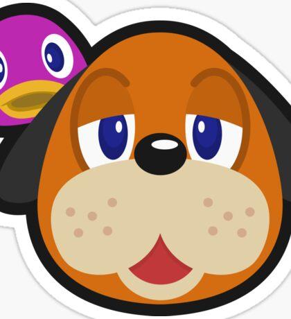 DUCK HUNT DUO ANIMAL CROSSING Sticker