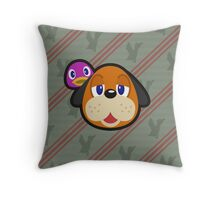 DUCK HUNT DUO ANIMAL CROSSING Throw Pillow
