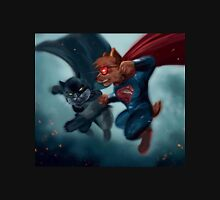 Batcat vs Superdog Unisex T-Shirt