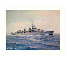 USS Halsey Powell Art Print