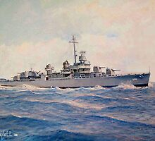 USS Halsey Powell by William H. RaVell III