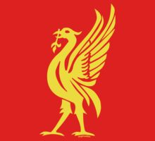 Liverpool Liver Bird Yellow by Fotopia
