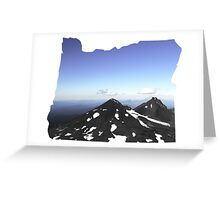 OR- South Sister Summit Greeting Card