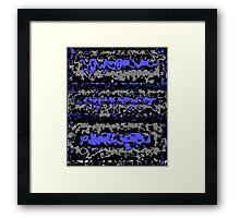 Black blue gray abstract geometric pattern     Framed Print