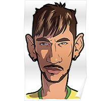 Neymar Caricature #10 Poster