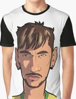 Neymar Caricature #10 Graphic T-Shirt