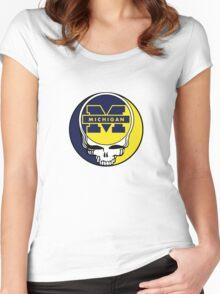 University of Michigan Grateful Dead Women's Fitted Scoop T-Shirt