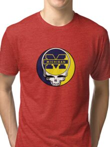 University of Michigan Grateful Dead Tri-blend T-Shirt