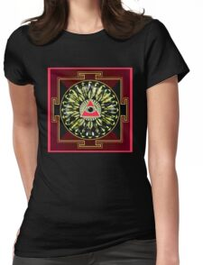 PINK EYE YANTRA 23 Womens Fitted T-Shirt