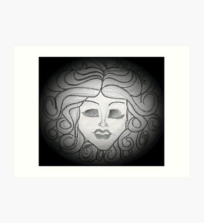 Madame Leota (Haunted Mansion Drawing) Art Print
