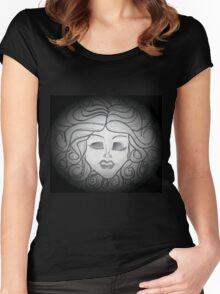 Madame Leota (Haunted Mansion Drawing) Women's Fitted Scoop T-Shirt