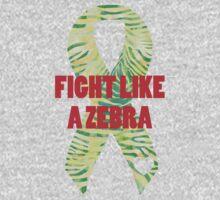 Fight Like a Zebra - Lime Baby Tee