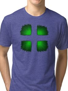 Green Grid Tri-blend T-Shirt