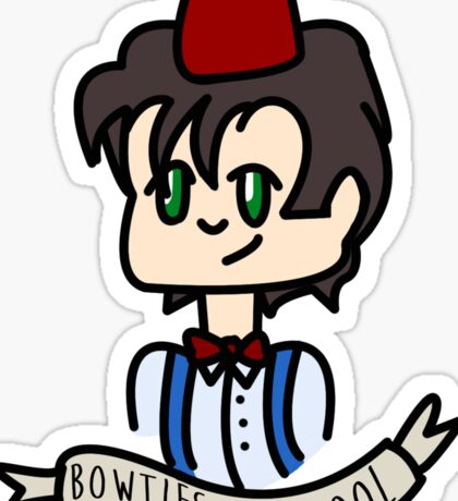 Doctor Who Bowties Are Cool Sticker