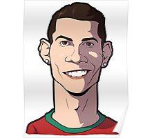Cristiano ronaldo Caricature Poster