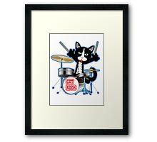 Cat Rock Drums No Background Framed Print