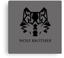 Wolf Brother (Black) Canvas Print