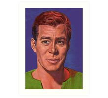 William Shatner is Captain James T. Kirk Art Print