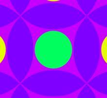 "Retro 1970s Geometric Print ""Circles 4""  Sticker"