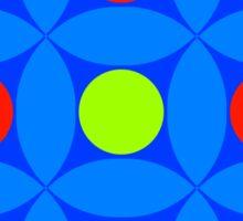 "Retro 1970s Geometric Print ""Circles 3""  Sticker"