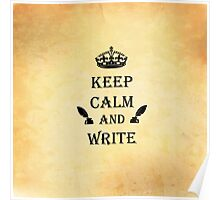 Keep Calm and Write Poster