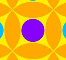 "Retro 1970s Geometric Print ""Circles 2""  Sticker"