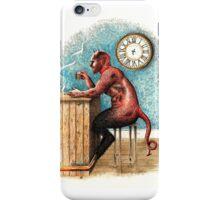 The demon drinks. iPhone Case/Skin