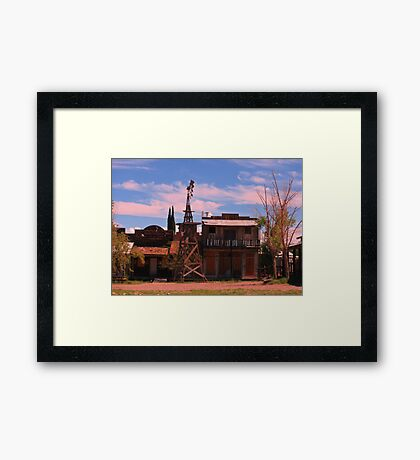Old Southwestern Ghost Town Framed Print