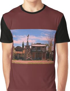 Old Southwestern Ghost Town Graphic T-Shirt