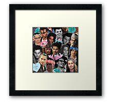 Johnny Depp Collage Framed Print