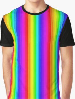 Cross-stitch Rainbow Pattern Graphic T-Shirt