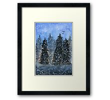 Winter Trees - Watercolor Painting Framed Print