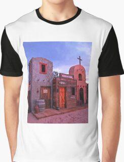Old Western Street Scene Graphic T-Shirt