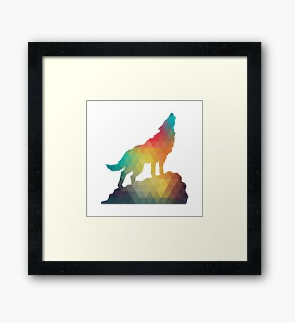 The Lone Wolf Framed Print