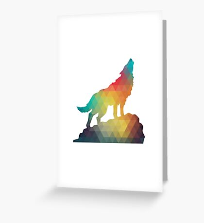 The Lone Wolf Greeting Card
