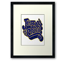 Jerry's of Chico 1970s Style Logo Framed Print