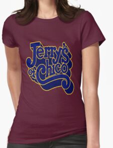 Jerry's of Chico 1970s Style Logo Womens Fitted T-Shirt