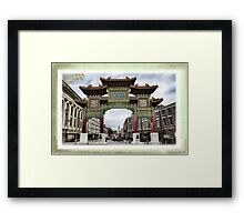 Chinese Arch - Liverpool - Hand Tinted Framed Print