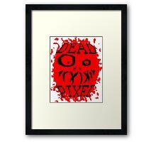 DEAD PIXEL Framed Print