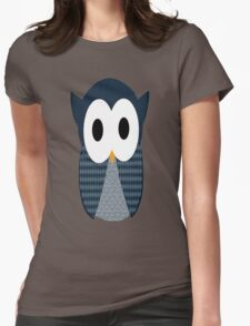 Cute Blue Owl Womens Fitted T-Shirt