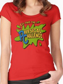 Double Dare - I'll Take The Physical Challenge Women's Fitted Scoop T-Shirt