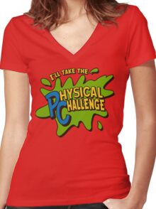 Double Dare - I'll Take The Physical Challenge Women's Fitted V-Neck T-Shirt