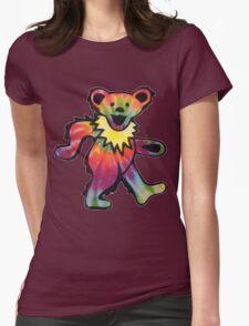 Grateful Dead Bear Womens Fitted T-Shirt