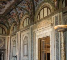 The Opulent Loggia in Villa Farnesina, Rome, Italy - Take Two Sticker