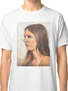 Portrait sketch of Aimee Classic T-Shirt