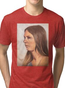 Portrait sketch of Aimee Tri-blend T-Shirt
