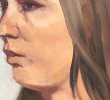 Portrait sketch of Aimee Sticker